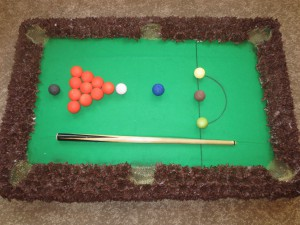 Floral snooker table